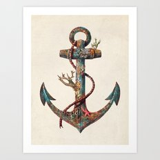 Lost at Sea - colour option Art Print