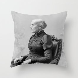 Susan B. Anthony Portrait - 1891 Throw Pillow