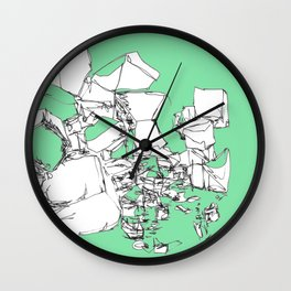 Mint Chocolate Wall Clock