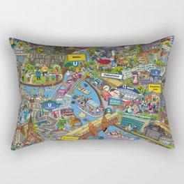 Illustrated map of Berlin Rectangular Pillow