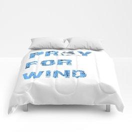 Kiteboarding Humor Kneeling Skeleton Praying For Wind Comforters