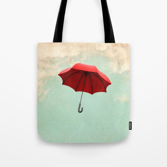 Red Umbrella Tote Bag