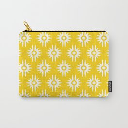 Mid Century Modern Bang Pattern 271 Yellow Carry-All Pouch