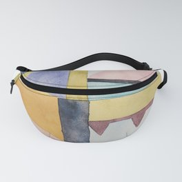 modern abstract watercolor II Fanny Pack