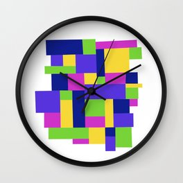 Happy colors quadrille Wall Clock