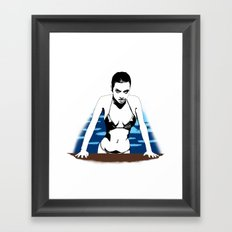 Out of the pool Framed Art Print