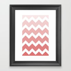 Chevron - Multi Red Framed Art Print