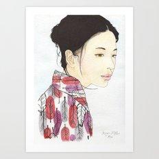 Kind Mother Art Print