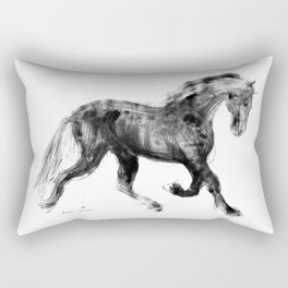 Horse (Friesian Colt) Rectangular Pillow