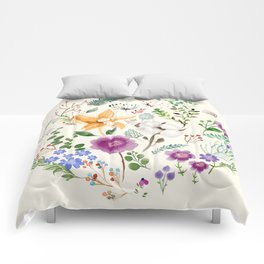 Winter Flowers Comforters