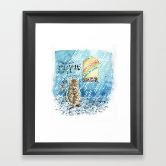 stand a little rain Framed Art Print