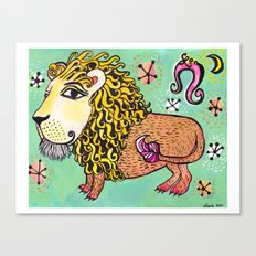 ox MAJESTIC LEO xo Canvas Print