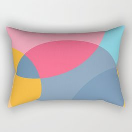 Light reflected overlapping colors circles for furniture and fashion Rectangular Pillow