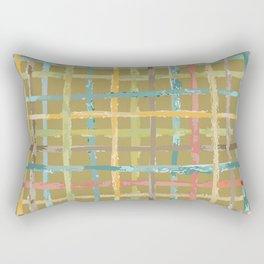 Parisian Casual Watercolor Plaid Rectangular Pillow