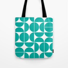 Mid Century Modern Geometric 04 Turquoise Tote Bag