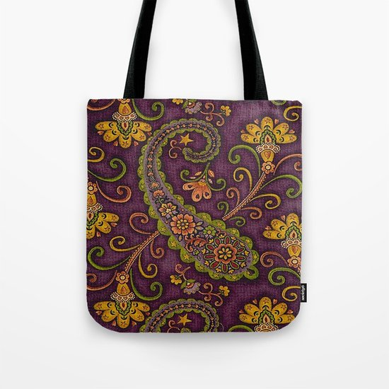 Floral Paisley Pattern 06 Tote Bag