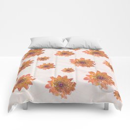 Orange nostalgia Comforters