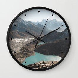 Gokyo Ri overlooking Gokyo Lakes in Everest Region Wall Clock