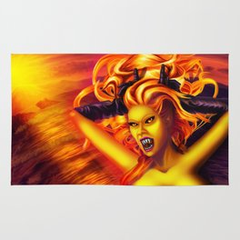 Mad Dolores Goddess of fire Rug