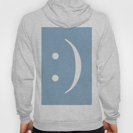 smiley sign on placid blue background Hoody