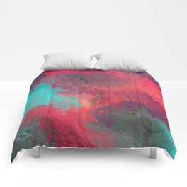 Passionate Firestorm Abstract Painting Comforters