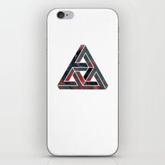 impossible triangle red iPhone & iPod Skin