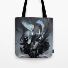 The Carrion Widow from Below the Cliffs Tote Bag