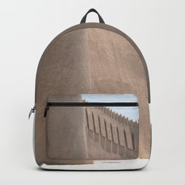 Yazd City Gate Towers Castle, Persia, Iran Backpack