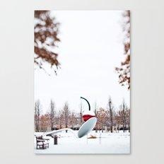 snow spoon & cherry Canvas Print
