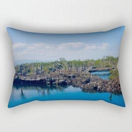 Lava meets the ocean Rectangular Pillow