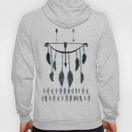 Bow, Arrow, and Feathers Hoody