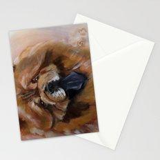 Chow dog portrait Stationery Cards