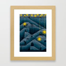 Labyrinth of stairs Framed Art Print