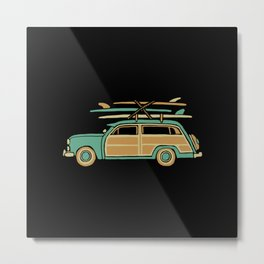Surf Car Metal Print