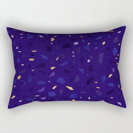 Blue Terrazzo Pattern Rectangular Pillow