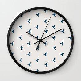 Hummingbird Flight Wall Clock
