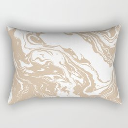 Masago - spilled ink abstract marble painting watercolor marbling cell phone case Rectangular Pillow