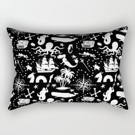 High Seas Adventure // Black Rectangular Pillow