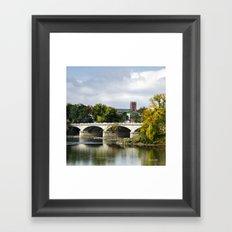 Memorial Bridge Landscape Framed Art Print