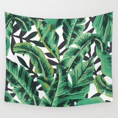 Tropical Glam Banana Leaf Print Wall Tapestry