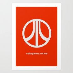 Make Games, Not War Art Print