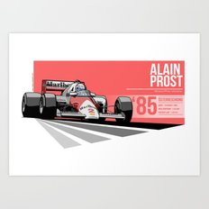 Alain Prost - 1985 Österreichring Art Print