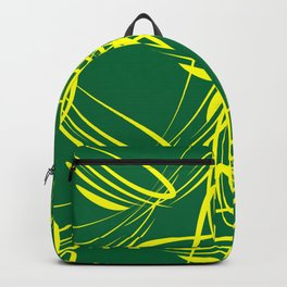 Lemon lines for on a green background. Backpack