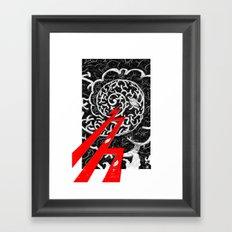 Red Lightning Framed Art Print