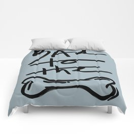 Bad to the Bone | Blue Comforters