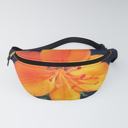 Bright Orange Single Lily Flower Floral Fanny Pack