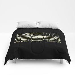 USS West Virginia Comforters