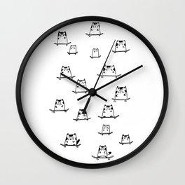 Sk8 Cats Wall Clock