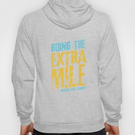 Awesome Cross Country Runners Running Extra Mile Hoody