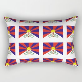 flag of thibet,བོད,tibetan,asia,china,Autonomous Region,everest,himalaya,buddhism,dalai lama Rectangular Pillow